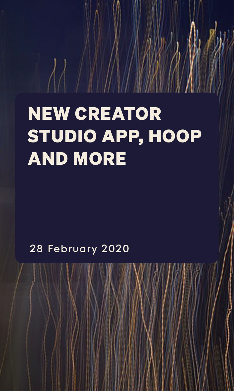 New Creator Studio app, Hoop and more